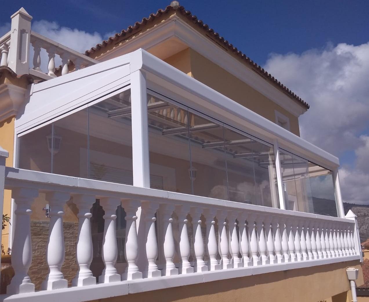 Instalación techo móvil cristal