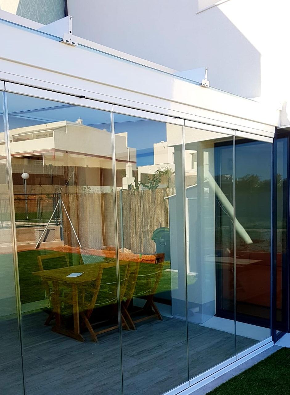 Instalación techo fijo de cristal. Alicante