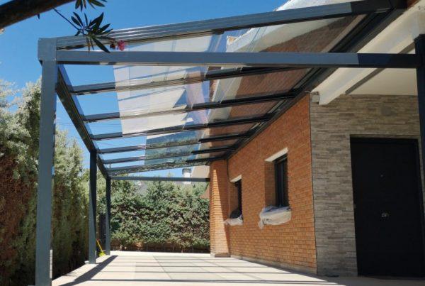 Instalación techo móvil de cristal. Madrid