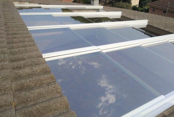 Instalación techo móvil de cristal. Barcelona