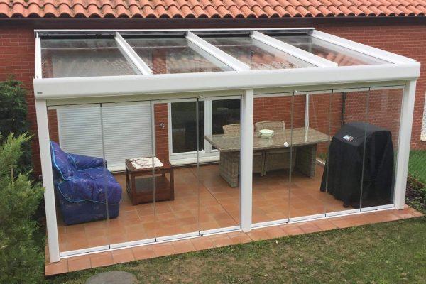 Instalación techo fijo de cristal. Cantabria